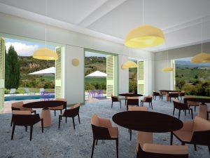 Interior design of hospitality spaces