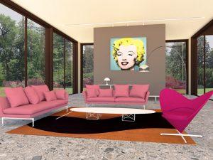 Lounge area inside pavilions